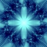Elegant Blue  Star Background Stock Images