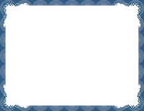 Elegant blue stylish frame Royalty Free Stock Photo