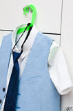 Elegant blue suit and shirt for a boy Stock Photography