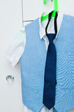 Elegant blue suit and shirt for a boy Royalty Free Stock Image