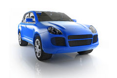Elegant blue SUV Royalty Free Stock Photos
