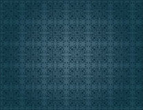 Elegant blue vintage seamless wallpaper Royalty Free Stock Photography