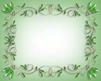 Elegant Border Design Invitation Stock Photos