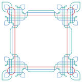Elegant border, wireframe Royalty Free Stock Photo