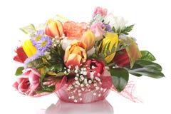 Elegant bouquet isolated on white Royalty Free Stock Photo