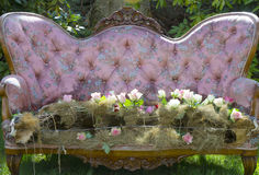 Elegant Bouquet On Rococo Furniture Royalty Free Stock Photos