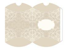 Elegant box template with mandala motive, illustration Royalty Free Stock Photo