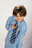 Elegant boy wearing tie Royalty Free Stock Photos