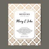 Elegant bröllopinbjudanbakgrund Kortdesign med den celtic prydnaden Royaltyfria Bilder