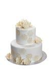Elegant bröllopstårta Arkivfoto