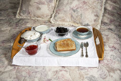 Elegant Breakfast in Bed Stock Images