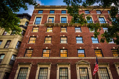 Elegant brick building in Upper East Side, Manhattan, New York. Royalty Free Stock Photography