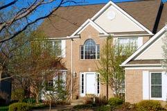Elegant brick home Royalty Free Stock Image