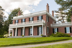 Elegant brick mansion Stock Photo