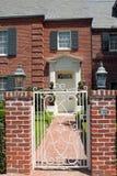 Elegant brick residence stock photos