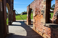 Elegant brickwork at Port Arthur. Elegant brickwork at ruins of Port Arthur Tasmania, former penal colony Royalty Free Stock Images