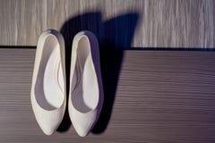 Elegant bridal shoes Royalty Free Stock Photo