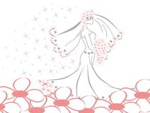 Elegant bride Stock Images