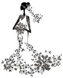 Elegant bride royalty free illustration