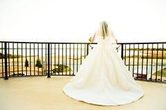 Elegant Bride Anticipating the Wedding royalty free stock photo