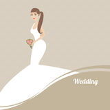 Elegant bride vector illustration