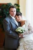 Elegant bride and groom Royalty Free Stock Photos