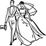 Elegant Bride And Groom Stock Photo