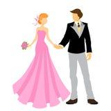 Elegant bride and groom Stock Photography
