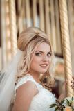 Elegant Bride In Wedding Day Royalty Free Stock Photo