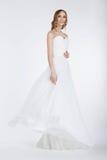 Elegant Bride in Long Bridal Dress Royalty Free Stock Photo
