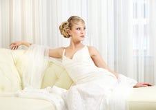 Elegant Bride Sitting Royalty Free Stock Images