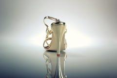 Elegant Brides white shoe Royalty Free Stock Image