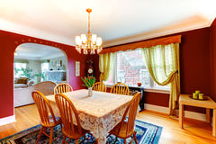 Elegant bright color dining room Stock Image