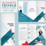 Elegant brochure. Design Template, trifold business brochure Stock Photo