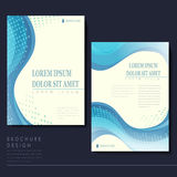 Elegant brochure template design Royalty Free Stock Photography