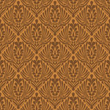 Elegant brown abstract seamless background Royalty Free Stock Photo