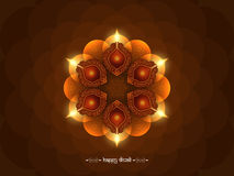 Elegant brown color happy Diwali background design Stock Images