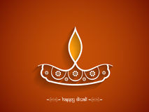 Elegant brown color happy Diwali background design Royalty Free Stock Photos