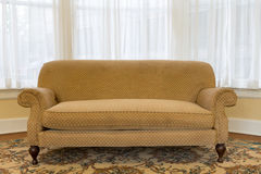Elegant Brown Couch at the Living Area Stock Image