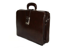 Elegant Brown Leather Briefcase Stock Image