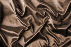 Elegant brown satin Stock Photo