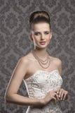 Elegant brunette girl Stock Images