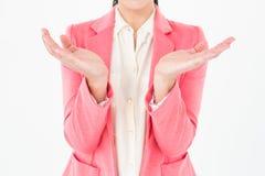 Elegant brunette presenting her hands Stock Image