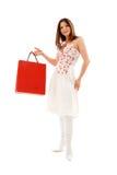 Elegant brunette with shopping bags Stock Photo