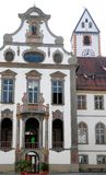Elegant building in the center of Fussen in Bavaria (Germany) Stock Image