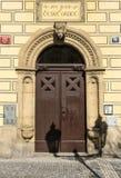 Elegant building door in Stare Mesto quarter, Prague, Czech Republic. Stock Photo