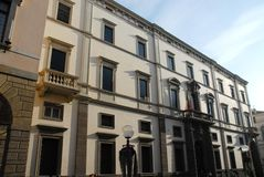 Elegant building is located downtown Padua in front of the City Hall in Veneto (Italy) Stock Photography