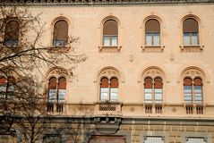 Elegant building in the town center in Lodi in Lombardy (Italy) Stock Image