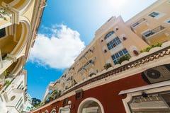 Elegant buildings in world famous Capri island. Italy stock images