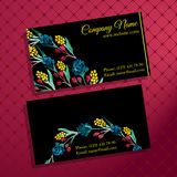Elegant business card with bouquet of flowers Stock Photo